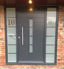 contemporary painted door