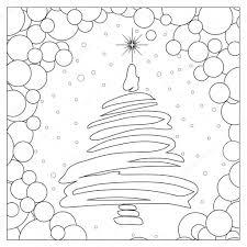 Abstract Kerstboom Kleurplaat Stockfoto Smk0473 128859940 Idee