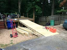 wooden wheelchair ramp plans free wood handicap