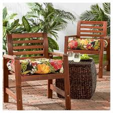 outdoor furniture cushions. Set Of 2 Outdoor Chair Cushions - Aloha Black Greendale Home Fashions : Target Furniture
