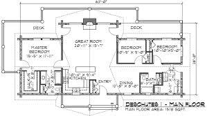 one story log home floor plans