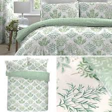 green duvet covers fern leaf botanical