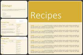 Recipe Template Word Free Blank Cookbook Template Pdf Word Format Excel