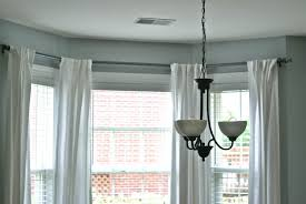 next bay window pole curtains treatments for kitchen
