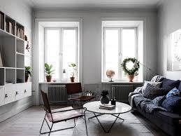 Mooie Woonkamer Van Een Klein Appartement Van 44m2 Interieur