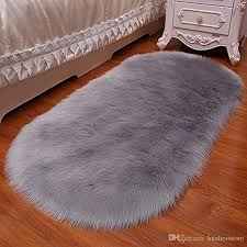 oval faux fur sheepskin rug carpet kids plat mat soft faux sheepskin chair cover home decor accent for kid s room children rug canada 2018 from huahoo