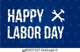 labor day theme vector clipart international worker day or labor day theme set of