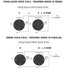 help me wire my subs please tccoa forums this means that i can either wire them in series or parallel and end up 4 ohms either way right is there some reason i would choose one way or the
