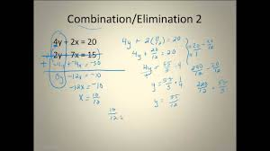 solving linear systems combination elimination method