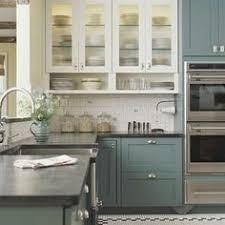 blue kitchen cabinets home depot