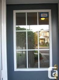 Front Door Window Inserts Install Glass Door Insert In A Single 8