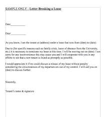 Terminate A Lease Letter Letter Breaking A Lease In 2019 Lettering Being A