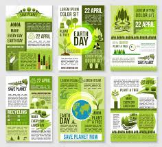 Earth Day Poster Template Save Planet Banner With Earth Globe
