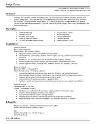 resume of financial analyst financial analyst resume examples peoplewho us