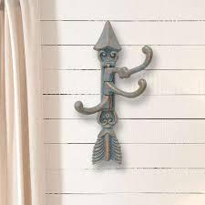 blue cast iron arrow wall hook