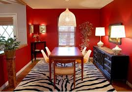 Awesome Picture Of Red Dining Room Decorating Ideas With Area Rugs Red  Dining Room Exterior Ideas