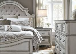 Liberty Magnolia Manor Antique White Upholstered Panel Bedroom Set ...