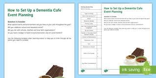 dementia fact sheet how to set up a dementia cafe event planning fact sheet