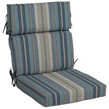 high back chair cushions modern allen roth stripe patio cushion for intended 3