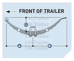 Springs Single Axle Cm Trailer Parts New Zealand Trailer