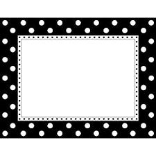 Buy Barker Creek Ll 830ch Border Chart Black And White Dot