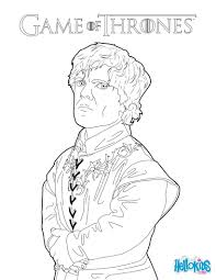 Cool Game Thrones Tyrion Lannister Coloring Page More Game Free