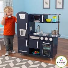 Kid Craft Retro Kitchen Kidkraft Navy Vintage Play Kitchen 53296 Play Kitchens At