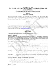 Non Profit Bylaws Template Popular With Non Profit Bylaws Template