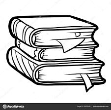 Vettore Pila Da Colorare Libro Da Colorare Pila Di Libri