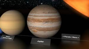 Planets And Stars Size Comparison
