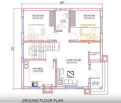 house plan for 30 feet by 30 feet plot