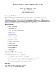 Cover Letter Communication Resume Samples Communication Specialist
