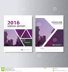 Cover Sheet Design Triangle Purple Annual Report Leaflet Brochure Flyer Template Design