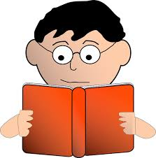 boy reading book specs spectacles gles
