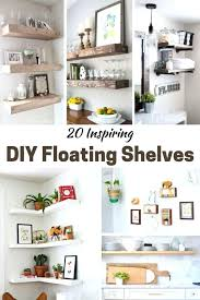 diy floating shelves inspiring floating shelves the rustic options are my favorites build floating shelves easy