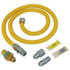 Gas Water Heater Installation Kit Brasscraft Safety Plus Gas Installation Kit For Dryer And Range