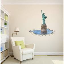 liberty bedroom wall mural: free shipping d wall stickers wall mural study bedroom decorative personality statue of liberty wallpaper mural