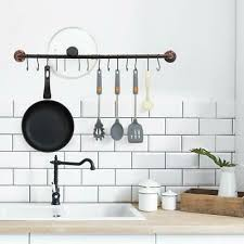 34 pot bar rack pans hanging rail