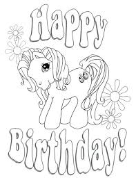 My Little Pony Happy Birthday Coloring Page Birthday Tale Happy