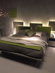 lighting bed. Bedroom Headboard With LED Strip Lights Behind Lighting Bed I