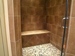 built in shower bench teak bathroom traditional with seat pertaining to