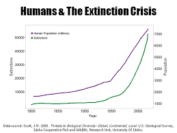 Extinction Timeline Chart Human Population Growth And Extinction