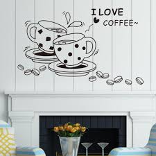 i love coffee wall decal removable cute coffee cup wall sticker kitchen restaurant vinyl wall stickers jia215 artistic wall decals baby nursery wall decals  on artistic wall decal with i love coffee wall decal removable cute coffee cup wall sticker