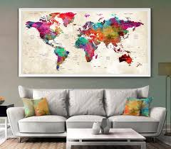 Small Picture Personalized Wedding gifts for couple Large Push Pin World Map