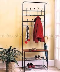 Entry Hall Tree Coat Rack Storage Bench Seat Entryway Bench Seat With Hat Coat Rack Shoe Shelf And Storage 53