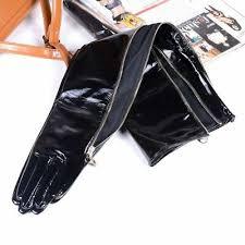 <b>40cm</b>-70cm <b>Women's</b> Real Patent <b>leather</b> Shiny Black Zipper ...