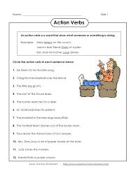 Worksheets. Work Sheets On Action Verb. Opossumsoft Worksheets and ...