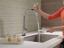 Delta Touch2o Kitchen Faucet Faucetcom 9159t Dst In Chrome By Delta