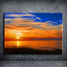 lace sunset oil painting prints on canvas famous euro landscape pictures home decor unframed new cuadros
