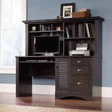 wood home office desks small. Wood Home Office Computer Desk With File Drawer \u0026 Extra Storage Hutch Desks Small V